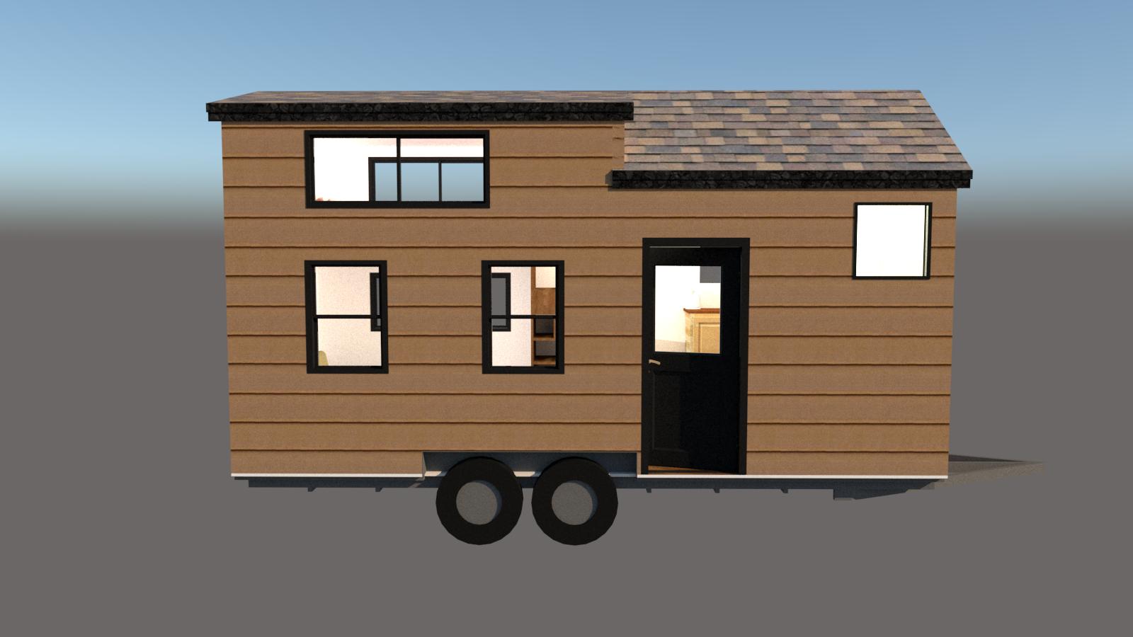 The hoosic a tiny house with a spacious sleeping loft b for Diy tiny house kits