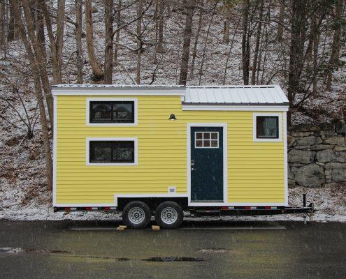 Hoosic Yellow Tiny House Exterior