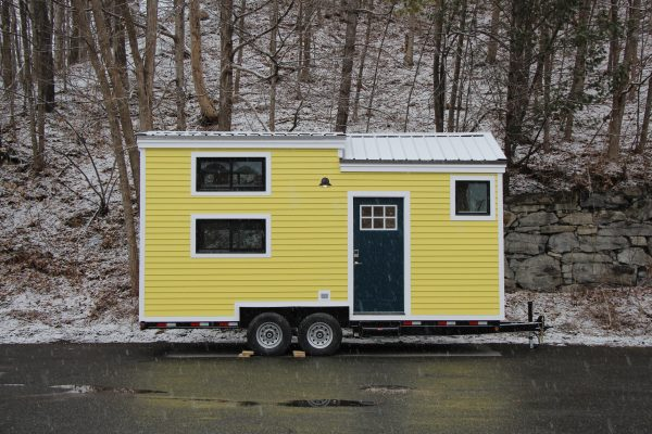 Hoosic Yellow Tiny House Exterior
