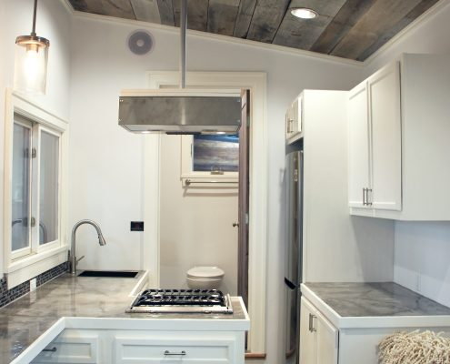 tiny home kitchen new england