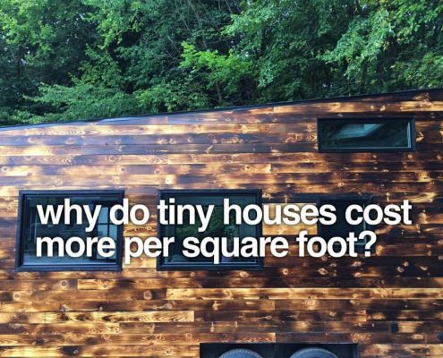 square foot cost for tiny house