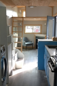 Double Loft Tiny House- The Cold Spring Kitchen and Living Room