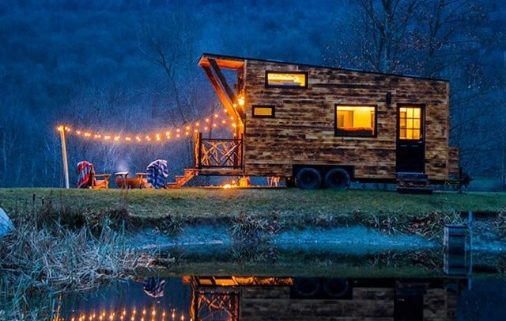 tiny house woodburned siding tiny home arcadia b&b micro manufacturing