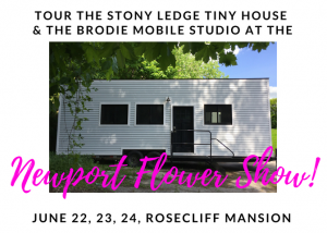 newport flower show 2018 tiny house tour