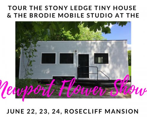 newport flower show 2018 tiny house tour