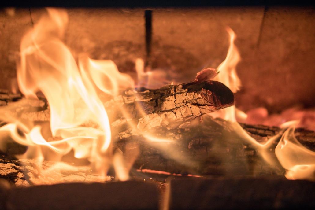 heat fire firewood tiny home