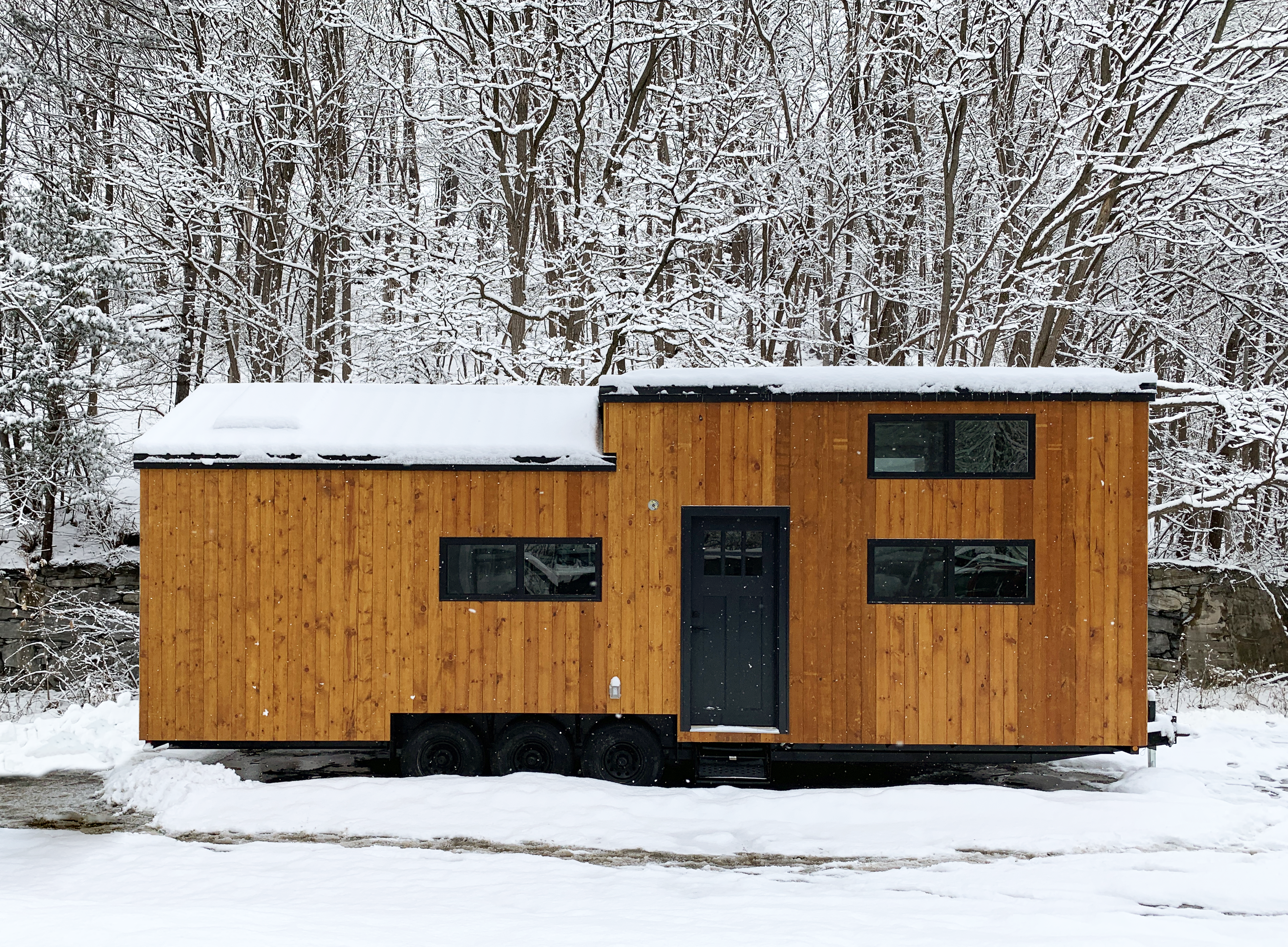 kinderhook tiny house in snow park model